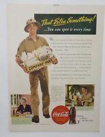 Original Print Ad 1943 COCA-COLA Company Mail Army WWII Soldier