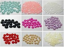 2000 Acrylic Half Pearl Flatback Round Bead 4mm Nail Art Tips Color For Choice