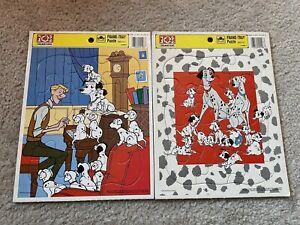 Vintage Golden Frame-Tray Puzzles (2) Walt Disney 101 Dalmatians 4198A-1/4198B-1
