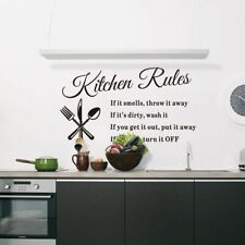 Kitchen Rules Home Decor Wall Sticker Dining Room Decoration Plastic Wall Decal