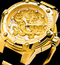 Invicta Men 52mm Bolt Dragon Automatic 18 K Gold Plated S.s Poly Strap Watch