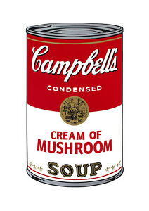 Soup Can Series #1 Cream of Mushroom by Andy Warhol A2 Quality Canvas Print