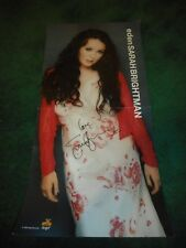 SARAH BRIGHTMAN - EDEN - AUTOGRAPHED PERFORATED PROMO FLAT - 1998