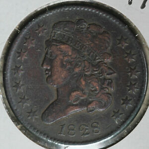 Nice Original 1828 Classic Head 13 Stars Half Cent!!