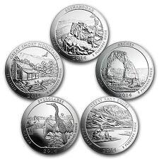 2014 5-Coin 5 oz Silver America the Beautiful Set - SKU #98455