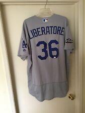Adam Liberatore Dodgers Postseason Jersey MLB COA 2016 Game Used Worn