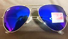 Ray-Ban RB3026 Aviator Large Sunglasses Gold/Cyclamen-purple Mirror new w/case