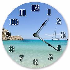 """10.5"""" CRYSTAL CLEAR SEAWATER CLOCK - Large 10.5"""" Wall Clock Home Décor - 3083"""