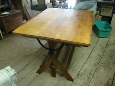 VINTAGE OAK  HAMILTON DRAFTING DRAWING  Artists Dining Kitchen Architects  TABLE