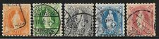 Switzerland stamps 1882 YV 81-85 P.9 1/2  CANC  F/VF  Cat Value $1500