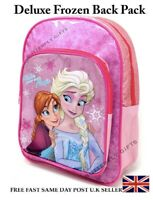 Deluxe Disney Frozen II Backpack Rucksack School Travel Carry Bag Anna Elsa