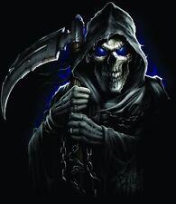 Dark Skull - Grim Reaper Car Sticker - Axe - Fierce -Biker- Gothic - Auto Decal