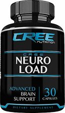 CREE Nutrition Neuro Load Nootropic Supplement w/ Ginkgo Biloba to Boost Memory