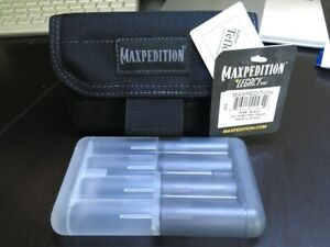 Maxpedition Volta Battery Pouch AA AAA CR123 Holder Tactical MOLLE BLACK 1000D