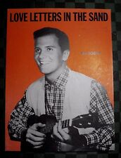 """1931 PAT BOONE SHEET MUSIC """"LOVE LETTERS IN THE SAND"""""""