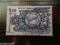 FRANCE 1982,TP 1982, EUROPA, oblitéré CACHET ROND, VF cancel STAMP EUROPE THEME