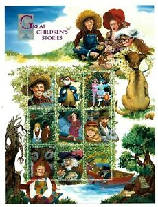 Liberia 1999 Great Children's Stories, Brothers Grimm - Sheet of 9 Stamps - MNH