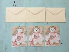Current Vintage Teddy Ballerina Bears Greeting Cards NEW BLANK with Envelopes!