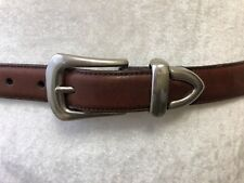 Greg Norman Mens Size 32/80 Brown Leather Shark Concho Belt