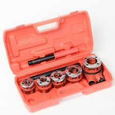 New Ratchet Pipe Threader Kit Set Ratcheting w/5 Dies and Case