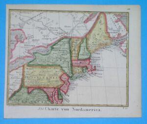 1832 UNUSUAL ORIGINAL MAP UNITED STATES PENNSYLVANIA NEW YORK WASHINGTON BOSTON