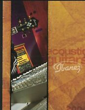 Ibanez Acoustic Guitars Catalog 2004 Steve Vai Euphoria Masa Talman Artwood