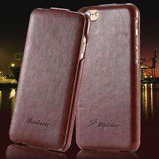 Schutzhülle  Leder Case Flip Klappe iPhone 5s/5 /SE Schön edle Art Luxus Braun