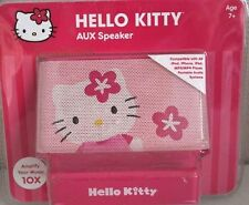 Hello Kitty - Amplified Stereo Speaker System New (Pink) 10X Amp Phone MP3 Ipod
