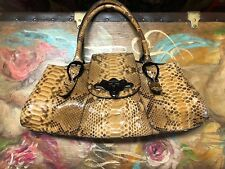 Michel Perry Python Skin Women's Baquette bag