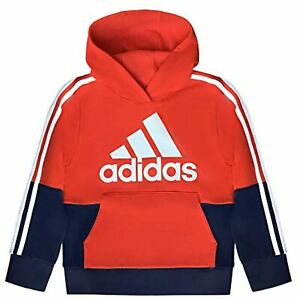 adidas Youth Boys Athletic Cotton Blend Pullover Hoodie Pick Sz & Color TINI {&}