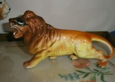 """Collectable Figurine of  Lion .  Signed """"Foreign"""""""