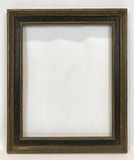 Vintage Mid 20th C Italian Style Gold & Black Decorated Frame 12 x 15 Opening