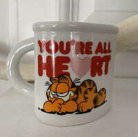Vtg 1978 Enesco Garfield You Know You're All Heart Valentine Mug Jim Davis