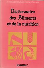 Livre dictionnaire des aliments et de la nutrition Dr Camille Craplet book