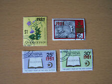 GUYANA 1981 OVERPRINTS,4 VALS,U/M.NICE.