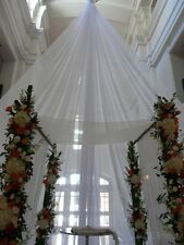 "Voile by the yard 116"" wide, white, ivory or  black, for wedding decoration"