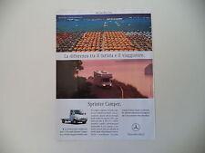 advertising Pubblicità 2004 MERCEDES SPRINTER CAMPER