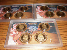 2007, 2008, & 2009 PROOF PRESIDENTIAL DOLLAR SETS, 12 coins, no box