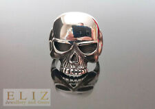 925 Sterling Silver Half Jaw Skull and Bones Ring Keith Richards inspired punk g