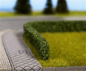 NOCH HO scale ~ LOW GARDEN HEDGES / DARK GREEN ~ scale model #21524