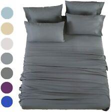 Egyptian Comfort 1800 Count 6 Piece Bed Sheet Set Deep Pocket Bed Sheets