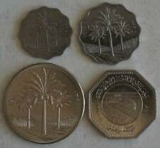 IRAQ 5-250 Fils 1970-1981 4 Coins UNC Set FAO & World Food Day