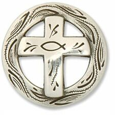 Christian Cross Concho 1-1/4 00004000 4; (3.2 cm) Tandy Leather 7180-05