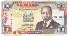 Kenya  100/-  1.1.1995  P 27g   Series AZ  Circulated Banknote AFD2