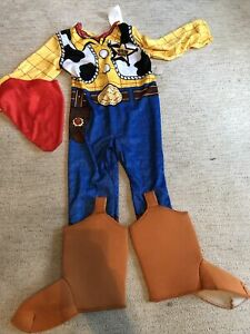 Toy Story 2pc Woody Kids Costume Sz 3T/4T New With Tags. Boots & Scarf Ship Fast