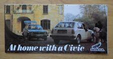Honda Gama Orig 1977-78 Reino Unido Mkt folleto de ventas-CIVIC ACCORD 1st Gen