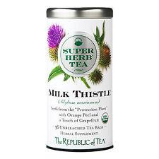 The Republic Of Tea Organic Milk Thistle Superherb Tea, 36 Tea Bags, Detox Tea*