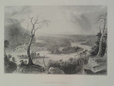 Harper's Ferry West Virginia  Antique Steel Engraving 1887