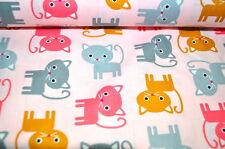 ROBERT KAUFMAN CHATS CHAT KITTY CAT USA Tissu design 0,5m x 1,10m coloré R