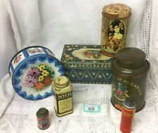 SET OF 7 VINTAGE  Biscuit, Chocolate And Medical TINS